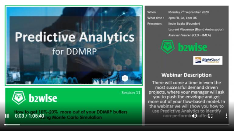 Predictive Analytics for DDMRP